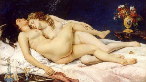 Somnoroasele lesbiene ale lui Courbet