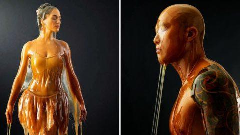 Art at its finest: Sculpturi vii acoperite in miere