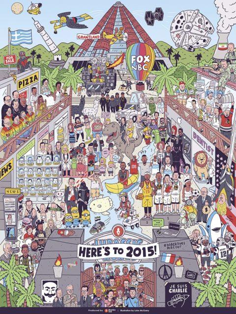 Anul 2015 într-o singură ilustrație